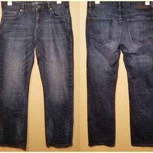 Calvin Klein Men's Straight Fit Blue Jeans 34x32